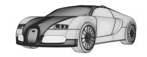 مدل سازی سه بعدی بوگاتی