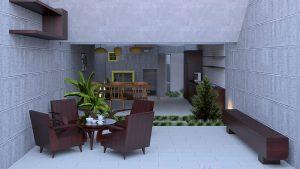 مدل سازی حیاط خانه در 3D Max